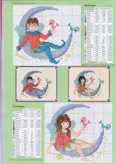 Fairy Alphabet -C Cross Stitch Alphabet Patterns, Cross Stitch Letters, Cross Stitch For Kids, Cross Stitch Charts, Stitch Patterns, Cross Stitching, Cross Stitch Embroidery, Embroidery Patterns, Alphabet Images