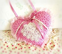 Valentine Heart Ornament Home Decor Heart by CharlotteStyle
