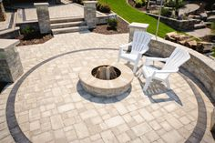 Colorful, durable concrete pavers provide an easy and elegant way to improve your family's quality of life now and your home's curb appeal when the time comes to sell. Concrete Pavers, Pavement, Curb Appeal, Home Projects, Swimming Pools, Fire Pits, Yard, Building, Outdoor Decor