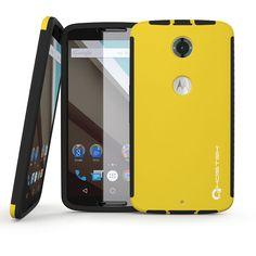 Nexus 6 Case, Ghostek Blitz yellow Nexus 6 Case W/ Attached Nexus 6 Screen Protector - Lifetime Warranty - Rubberized Fitted Smooth Non-Slip Grip