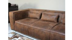 canape 3places microfibre marron 03 morys detail coussin mobiliermoss