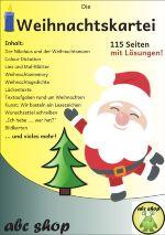 Sie erhalten ein Pdf-Dokument mit115 SeitenMaterial!Sie erhalten unterschiedliche Aufgaben und Arbeitsblätter für die FächerDeutsch, Mathematik, DaZ, EnglischundKunst, welche Sie zur Ergänzung Ihrer Weihnachtswerkstatt nutzen können.1. Der Nikolaus und der Weihnachtsmann 2. Colour Dictation3. Lies und Mal-Blätter 4. Weihnachtsmemory 5. Weihnachtsdomino 6. Weihnachtsgedichte 7. Lückentexte 8. DaZ: Wort-Bild-Übungen 9. DaZ: Einzahl-Mehrzahl von Weihnachtswörtern 10. Textaufgaben rund um…