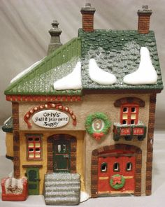 DEPT 56 ORLY'S BELL & HARNESS SUPPLY HERITAGE VILLAGE NORTH POLE CHRISTMAS BLDG