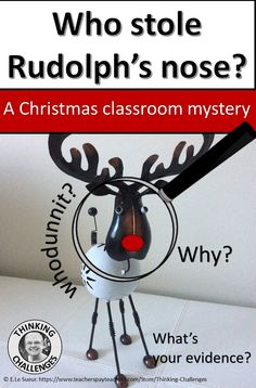 A Christmas mystery for the middle school classroom Christmas Words, Christmas Rose, Christmas Fun, Xmas, Critical Thinking Activities, Critical Thinking Skills, Christmas Activities, Classroom Activities, December Holidays Around The World