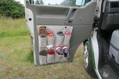van conversion campervan shoe storage solution