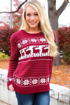 Sweatshirts Women 2018 Christmas Snowflake Print Sweatshirt Femme Plus – liilgal Nordic Pullover, Pullover Mode, Nordic Sweater, Sweater And Shorts, Cardigan Sweaters For Women, Cozy Sweaters, Cardigans For Women, Christmas Morning Outfit, Christmas Sweaters For Women
