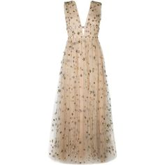 Valentino 'Star Studded' evening dress ($13,480) ❤ liked on Polyvore featuring dresses, embroidery dresses, sequin dresses, embroidered dress, sleeveless dress and low back sequin dress