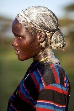 Borana girl with butterhair - Ethiopia by Steven Goethals on Flickr.