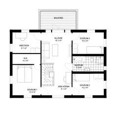 Villa Vaxholm – Klassisk | 2-planshus på 182 kvm | A-hus Villa, Floor Plans, Fork, Villas, Floor Plan Drawing, House Floor Plans