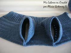 Mis labores en Crochet: Paso a paso del suéter para mascotas. Crochet Yarn, Crochet Stitches, Free Crochet, Puppy Clothes, Diy Clothes, Crochet Dog Sweater Free Pattern, Cat Sweaters, Pet Fashion, Dog Wear