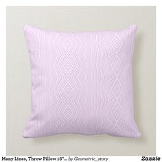 "Many Lines, Throw Pillow 16"" x 16"" Accent your home with custom pillows from Zazzle and make yourself the envy of the neighborhood. Made from high-quality Simplex knit fabric, these 100% polyester pillows are soft and wrinkle-free. The heavyweight stretch material provides beautiful color.. #pillow #square #homedecor #home #interiordesign #interiors #interiorstyling #bedroom #bedroomdecor #oblong #zazzle #zazzlemade #zazzlecom #zazzlestore #geometry #pink #white #square"