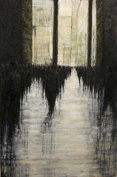 "Saatchi Online Artist: lesley oldaker; Oil, 2012, Painting ""Followers"""