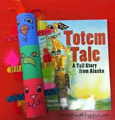 I love this book, Totem Tale , the culture and images are wonderful and perfect for first grade artists. I also put together a po. Totems, Totem Pole Craft, Aboriginal Day, Aboriginal Education, Indigenous Education, 2nd Grade Art, Grade 2, Third Grade, Toddler Art Projects