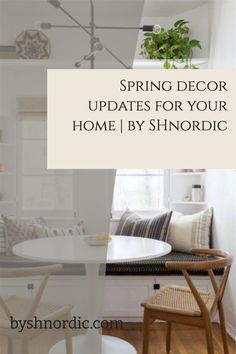Refresh your decor for spring. After finishing a good old spring clean, I like to update my space with a few things that evoke the sense of spring. Natural textiles and soft pastel tones not only mirror some of this year's key paint colour trends but also spring itself. #springdecor #homeupdates #dreamhome #interiors Minimal Kitchen Design, Trending Paint Colors, Colour Trends, H&m Home, Rattan Basket, Tile Patterns, Spring Cleaning, Kitchen Ideas, Pastel