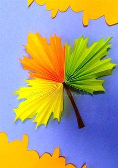 leaf crafts Paper craft Ideas for kids Fall Arts And Crafts, Autumn Crafts, Fall Crafts For Kids, Autumn Art, Diy For Kids, Kids Crafts, Diy And Crafts, Paper Crafts, Diy Paper
