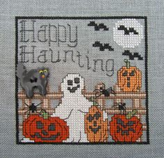 Happy Haunting by Designs by Lisa.   Chart here: http://www.wichelt.com/freegraphs/fgoct12.pdf