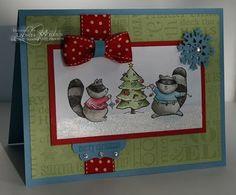 Merry Crittermas, Jolly Jingles jumbo wheel; Paper: Marina Mist, Certainly Celery, Real Red