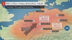 #شبكة_أجواء : طقس صيفي حار هذا الاسبوع في #ألمانيا مع توقعات بدرجات حرارة تصل إلى ارتفاعات  قياسية