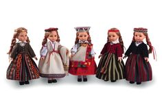 Latvian Woman With Dolls 103