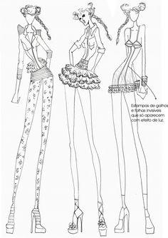 Continente Moda: Croquis para o DRAGÃO FASHION