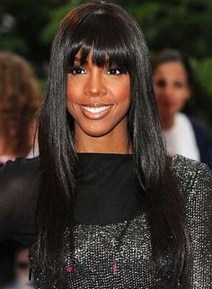Chic Long Straight Black Human Hair Wigs