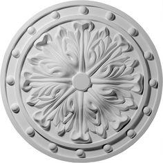 "Foster Acanthus Leaf 20.5""H x 20.5""W x 1.5""D Ceiling Medallion"