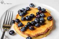 Gluten Free pancakes to start the weekend with blueberries and maple syrup.   . awsome i love it PLEASE FEEL FREE TO VISITE AND LIKE THIS PAGE FOR MORE RECIPES : https://www.facebook.com/Mediterraneanfoodrecipes