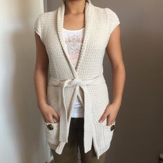 Perfect Cardigan  Perfect American Rag Cardigan like new, it's so soft, warm and happy ☺️with pockets perfect for a chic casual dayplease see measurements as not all sizes are the same  My dress form is a size 8 that's why it looks tight                                              ✅bundle ✅ all reasonable offers will be considered  ✅ No Trading  Poshmark rules only‼️ Measurements taken laying flat.       Ⓜ️Chest 19 plus stretch                       Ⓜ️Length from the neck down 24 American…