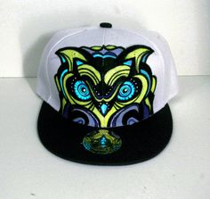 Owl hand painted snapback hat