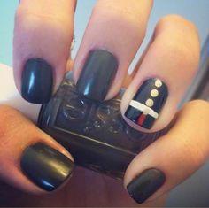 Marine corps nails for the USMC ball Usmc Nails, Military Nails, Marine Nails, Military Life, Military Girlfriend, Military Wedding, Dress Blues Marines, Usmc Love, Marine Uniform