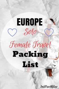 This packing list is for travelers who are planning to take on Europe with nothing but what they can fit in a carry-on. Road Trip Packing, Packing For Europe, Packing List For Travel, Vacation Packing, Packing Tips, Travel Europe, Travel Checklist, Travel Guides, Travel Tips