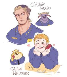 Chief Bogo and Claw Hauser