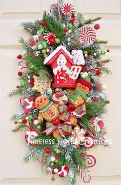 Botín de guirnalda para adornar la Navidad por timelesshomedecor
