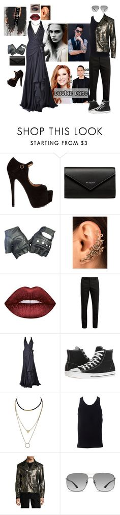 """""""Destiny Jackson- Met Gala"""" by evil-queen3 ❤ liked on Polyvore featuring Balenciaga, Mally, Lime Crime, Yves Saint Laurent, Versace, Converse, Simplex Apparel, miguel Antoinne and Gucci"""