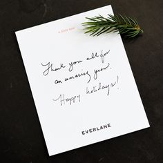 everlane thank you Luxury Packaging, Brand Packaging, Packaging Design, Branding Design, Packaging Ideas, Compliment Slip, Clothing Packaging, Thanks Card, Branded Gifts