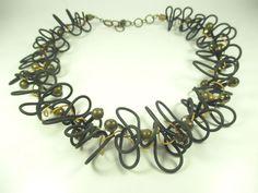 Langani Designer Collier Vintage Kette 60er 70er Halskette Boho necklace / ee N4