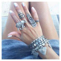 GypsyLovinLight! I'm obsessed with big rings & bracelets O.O Xxo