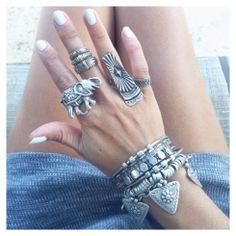 GypsyLovinLight! I'm obsessed with big rings & bracelets O.O Xxo