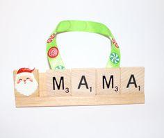 Custom Christmas Ornaments, Mama, Mommy, Mom, Mom Ornament, I love you, Scrabble, Christmas, Papa, Gram, uncle, grandma, grandpa, Nana, Mimi