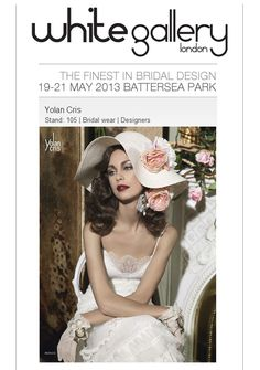 YolanCris will be present at White Gallery London 2013.The finest in #bridal #design. To mark the event, tomorrow we'll preview the new #vintage collection. Stay tuned ot our social networks. More info: double-click to this image ;) #white #whitegallery #London #wedding #brides #event #couture #Battersea Park