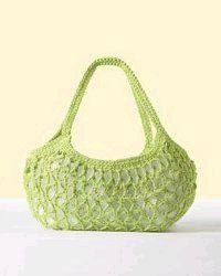 Anytime Market Bag | AllFreeCrochet.com...more like a purse but very cute shape & could easily add a zipper or loop closure.