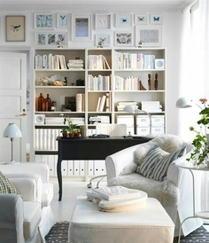 cozy office library