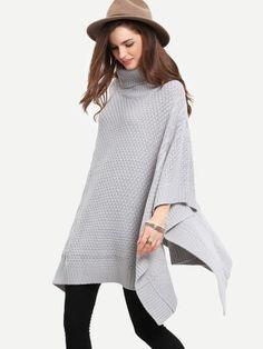 grey cardigan, grey sweater, turtleneck cardigan for fall season - Lyfie