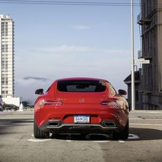 With just a tap of the throttle, the Mercedes-AMG GT S' performance exhaust opens its variable vanes, letting the handcrafted biturbo V-8 thunder down from atop Pacific Heights to the city below.