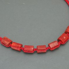 DIY Kurs – Czerwony naszyjnik