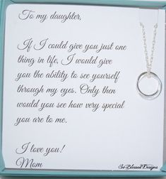 Graduation Signs Discover Gifts for daughter from Mom DAUGHTER necklace To Daughter from Mom Daughters POEM Birthday gift for daughter wedding gift for daughter Birthday Quotes For Daughter, Mother Daughter Quotes, Mom Daughter, Poems For Daughters, Brother Birthday, Proud Of You Quotes Daughter, Brother Sister, Daughter Graduation Quotes, Happy 18th Birthday Daughter