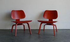 Eames for Herman Miller Molded Plywood Lounge Chair-LCW (Set of 2)