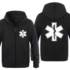 a832cd21a8 Zipper Hoodies Men EMT Emergency Ambulance Printed Mens Hoodie Brand Fleece  Long Sleeve Mens Jacket Sweatshirt Moletom Sudaderas Review