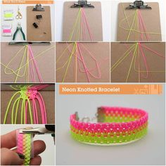 DIY Bright Neon Knotted Bracelet | iCreativeIdeas.com Follow Us on Facebook --> https://www.facebook.com/iCreativeIdeas