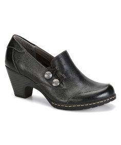 Love this Black Tayla Leather Pump on #zulily! #zulilyfinds
